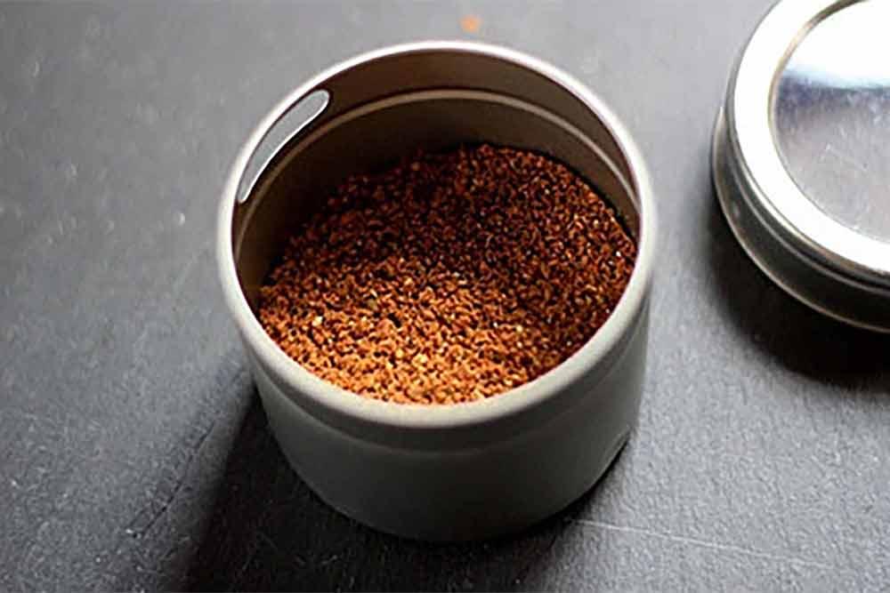 Garam masala spice blend in a spice jar