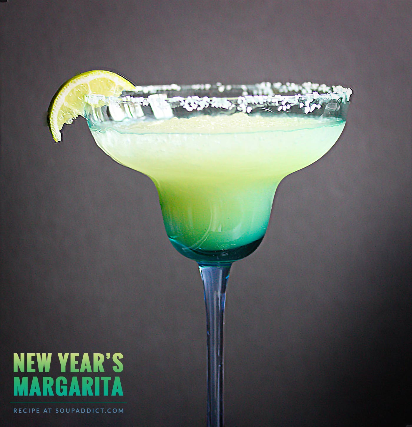 New Year's Margarita - Recipe at SoupAddict.com