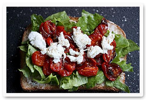 Roasted Tomato Caprese BLT Sandwich
