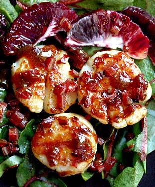 Scallops with Blood Orange Caramel | SoupAddict.com