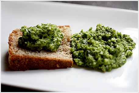 Basil & Garlic Scape Pesto