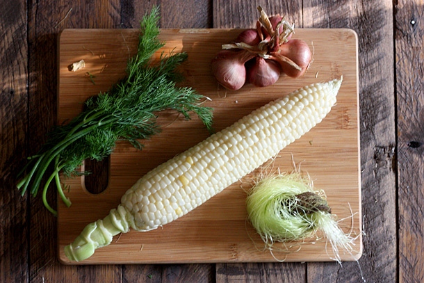 Ingredients for Sweet Corn Salad