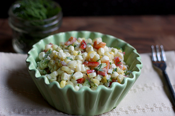 Sweet Dill Corn Salad