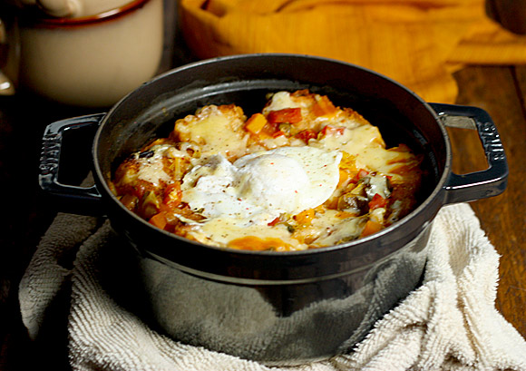 Autumn Vegetable Bread Soup in a Dutch Oven