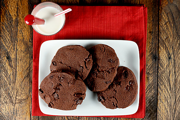 Chocolate Chocolate Sable Cookies