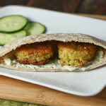Chickpea and split pea falafels 3