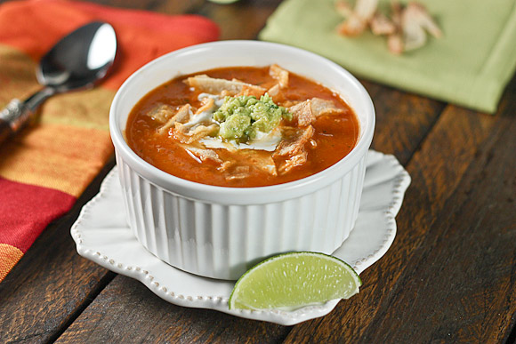 Roasted Tomato and Guacamole Soup