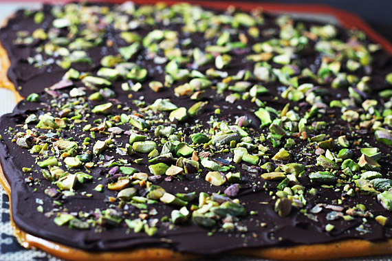Dark Chocolate Pistachio Brittle 3