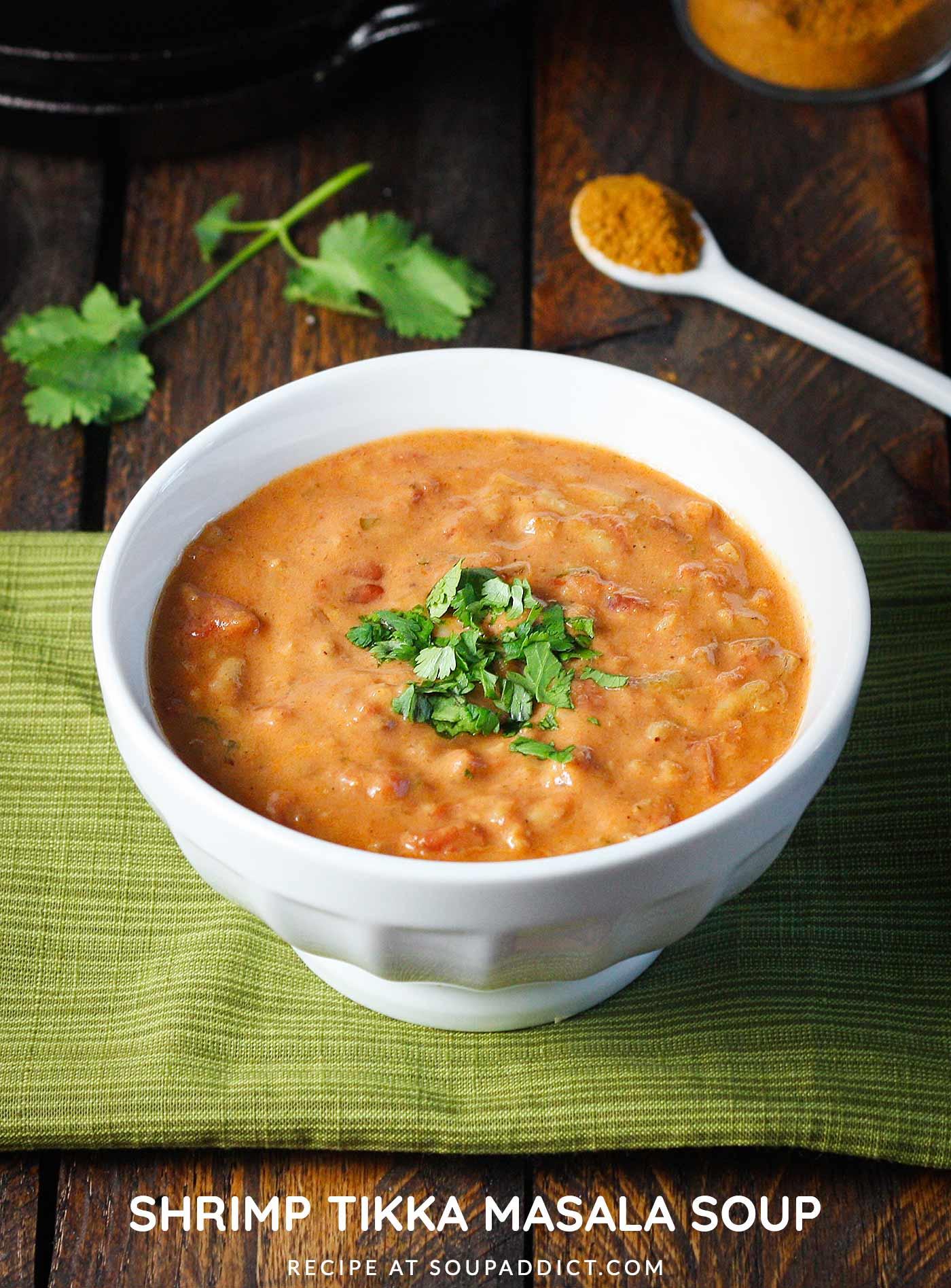Shrimp Tikka Masala Soup - Recipe at SoupAddict.com
