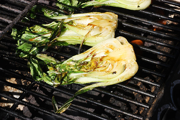 Grilled Baby Bok Choy 3