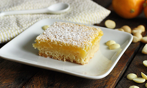 White Chocolate Meyer Lemon Squares