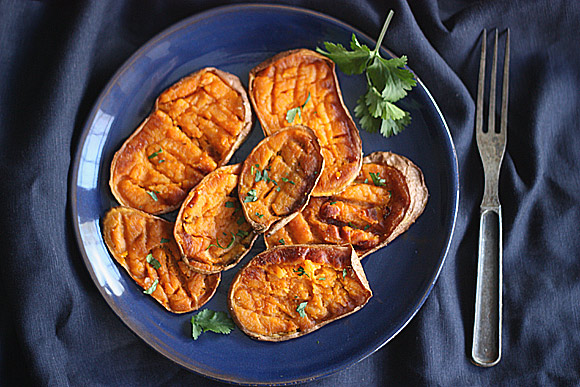 Smashed Sweet Potatoes with Curried Onion Jam 3