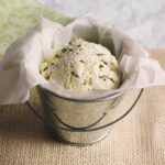 Homemade ricotta with herbs