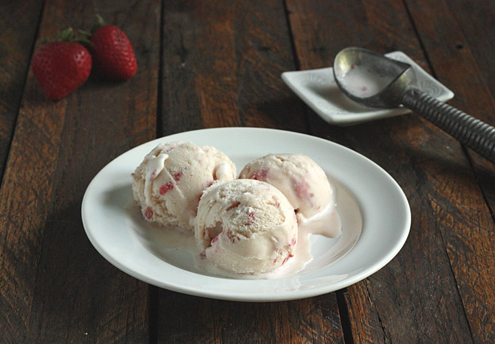 Strawberry Coconut Gelato