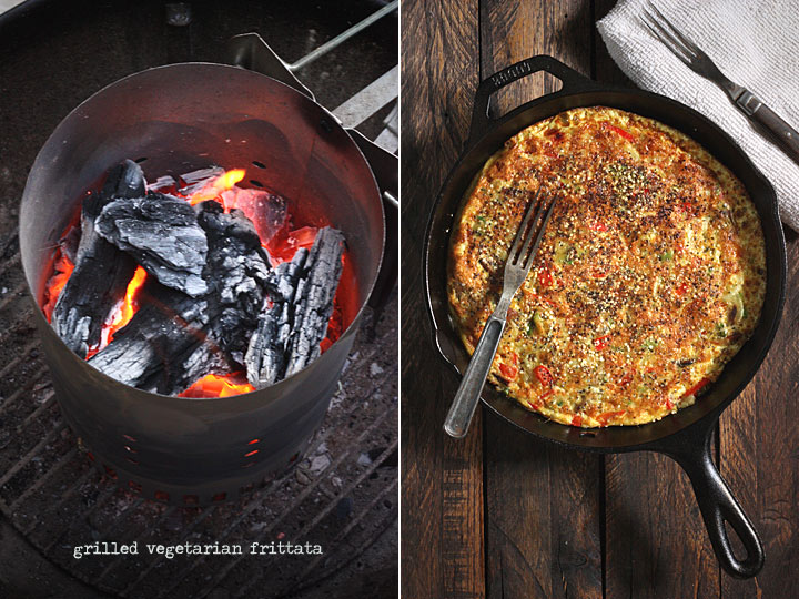 grilled vegetarian frittata