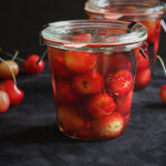 Potted cherries with rum and vanilla bean