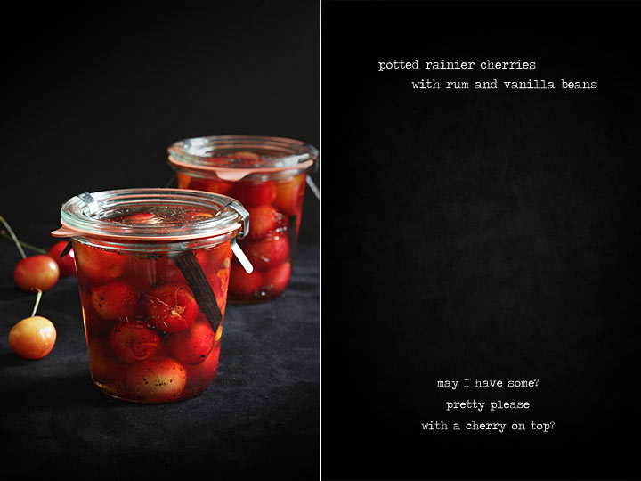 Potted cherries with rum and vanilla bean 4