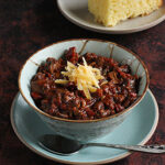 Chili with bacon + mushrooms