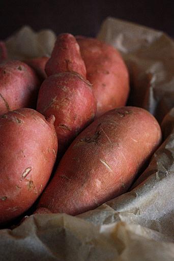 Salt roasted sweet potatoes from SoupAddict.com