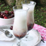 Black Cherry Champagne Floats