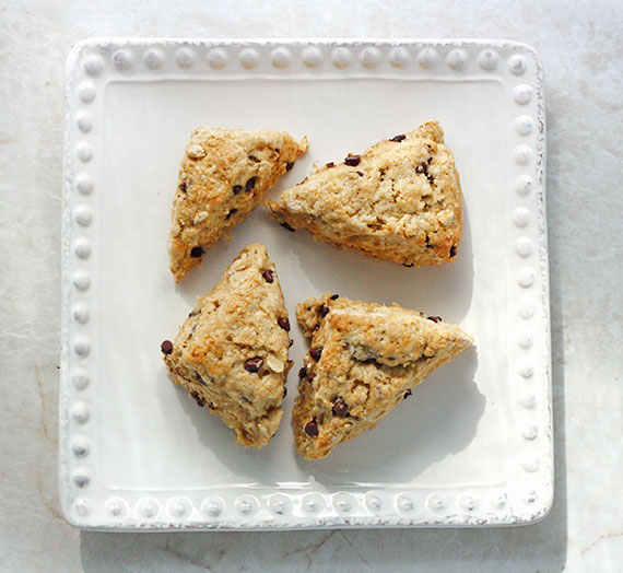 Brown Butter Chocolate Chip Scones Minis