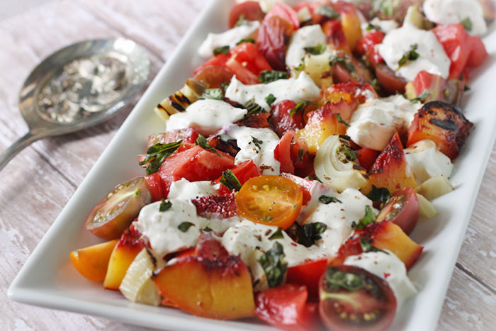 Tomato, Peach And Burrata Salad Recipes — Dishmaps