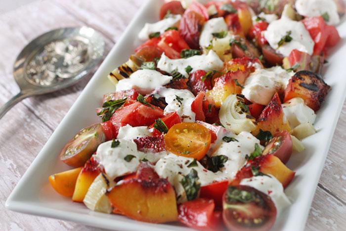 Tomato, Peach And Burrata Salad Recipes — Dishmaps
