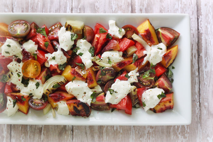 Grilled Peach, Fennel and Tomato Salad