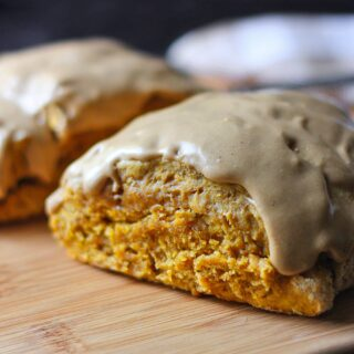 Pumpkin Spice Scones with Cappuccino Cream Glaze