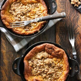 Pumpkin Pie Dutch Babies with Cinnamon Streusel