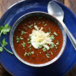 Sweet & Smoky Sriracha Black Bean Soup