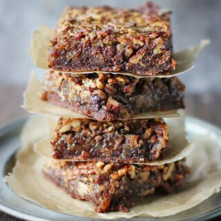 Chocolate Caramel Pecan Pie Bars