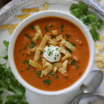 White Bean Chipotle Chicken Tortilla Soup