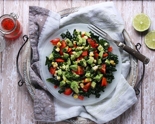 Skinny Guacamole Salad