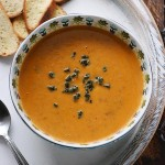 Sweet Potato Chorizo Boursin Soup from SoupAddict.com