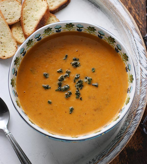 Sweet Potato Chorizo Boursin Soup - SoupAddict.com