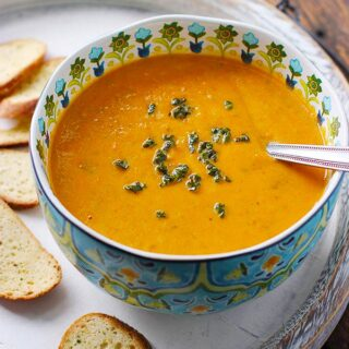 Sweet Potato Chorizo Boursin Soup