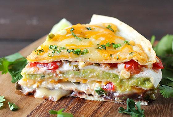 Super Stacked Quesadilla Pie - SoupAddict.com