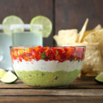 Triple Layer Guacamole Creamy Cojito Confetti Salsa Party Dip from SoupAddict.com