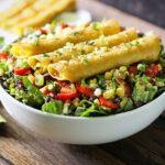 Mango Avocado Taquitos Salad from SoupAddict.com