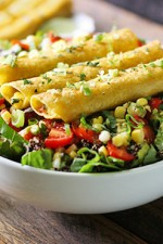 Mango Avocado Taquitos Salad from SoupAddict.com