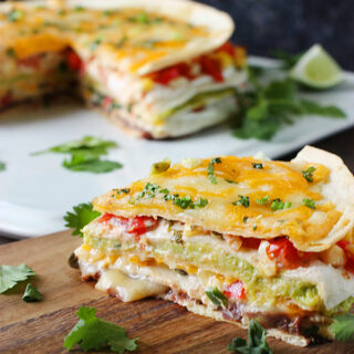 Super Stacked Quesadilla Pie