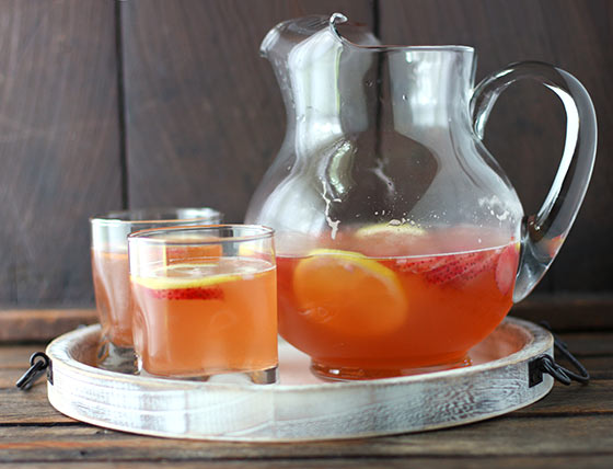 Strawberry Limoncello Sangria