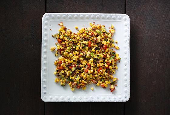 Colorful Grilled Corn and Quinoa Salad