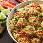 Oven Fried Shrimp with Thai Coconut Ramen Noodle Bowl | SoupAddict.com