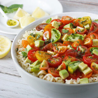Avocado & Cherry Tomato Ramen Noodle Bowl