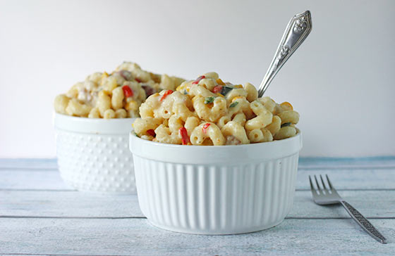 Smoky Vegetable Mac and Cheese