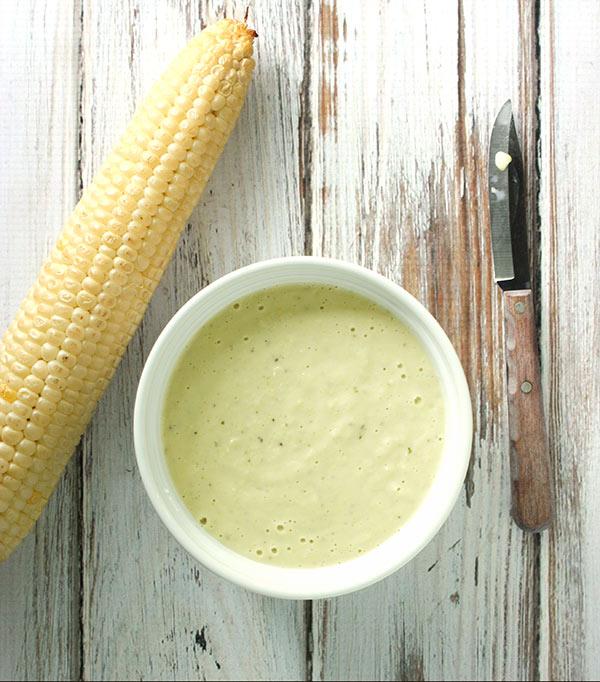 Smoke corn mayonnaise