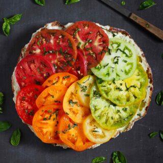 Heirloom Tomato Sandwich with Smoked Corn Aioli
