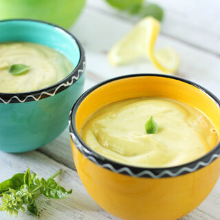 Chilled Lemon Basil Avocado Soup